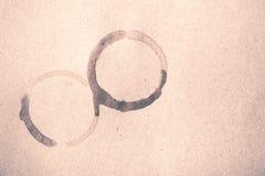 Estilo do vintage da mancha do copo de café Imagens de Stock