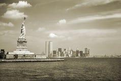 Estilo do vintage da skyline de NYC Imagens de Stock