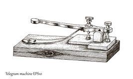 Estilo do vintage do desenho da mão do telégrafo Fotos de Stock