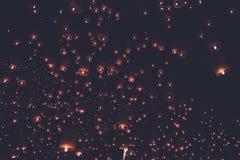 Estilo do vintage do festival de lanterna Imagens de Stock Royalty Free