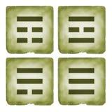 Estilo do vintage do símbolo dos trigrams de Bagua Imagens de Stock Royalty Free