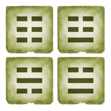 Estilo do vintage do símbolo dos trigrams de Bagua Imagem de Stock
