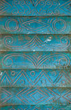 Estilo do vintage dos Carvings floral no teste padrão sem emenda da árvore em de madeira Fotos de Stock