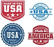 Estilo do vintage feito em selos dos EUA Foto de Stock
