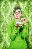 Estilo dos anos 50 do Teatime Fotografia de Stock