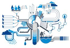 Elementos infographic da água Foto de Stock