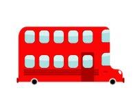 Estilo dos desenhos animados do ônibus de dois andares Ônibus de Londres Transporte em w Fotos de Stock