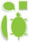 Estilo en blanco Stickers_eps Imagenes de archivo