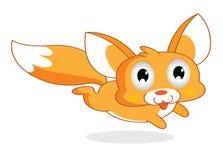 Estilo engraçado dos desenhos animados do esquilo ilustração do vetor