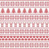 Estilo escandinavo, ponto nórdico da camiseta do inverno, teste padrão da malha Imagens de Stock
