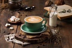 Estilo especial do vintage do copo de café imagem de stock