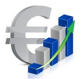 Estilo euro del icono de la moneda Foto de archivo libre de regalías