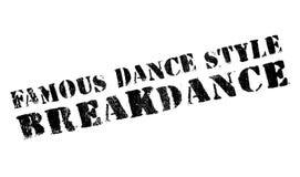 Estilo famoso de la danza, sello de Breakdance libre illustration