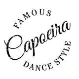 Estilo famoso de la danza, sello de Capoeira ilustración del vector