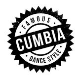 Estilo famoso de la danza, sello de Cumbia ilustración del vector