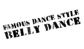 Estilo famoso de la danza, sello de la danza de vientre stock de ilustración