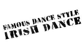Estilo famoso de la danza, sello de la danza del irlandés stock de ilustración