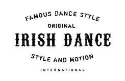 Estilo famoso de la danza, sello de la danza del irlandés ilustración del vector