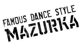 Estilo famoso de la danza, sello de la mazurca libre illustration