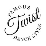 Estilo famoso de la danza, sello de la torsión ilustración del vector