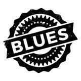 Estilo famoso de la danza, sello de los azules stock de ilustración