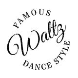 Estilo famoso de la danza, sello de vals libre illustration