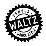 Estilo famoso de la danza, sello de vals ilustración del vector