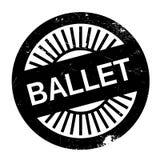 Estilo famoso de la danza, sello del ballet stock de ilustración