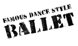Estilo famoso de la danza, sello del ballet ilustración del vector