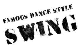 Estilo famoso de la danza, sello del oscilación stock de ilustración