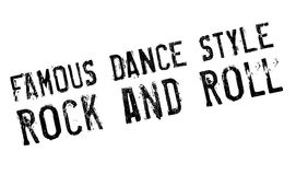 Estilo famoso de la danza, sello del rock-and-roll stock de ilustración