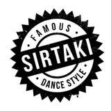Estilo famoso de la danza, sello del sirtaki stock de ilustración