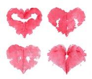 Estilo feliz do teste de Rorschach do cartão do ` s do Valentim detalhado Fotografia de Stock