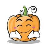 Estilo feliz dos desenhos animados do caráter da abóbora da cara Fotos de Stock