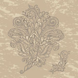 Estilo floral do renascimento do elemento do projeto Imagens de Stock Royalty Free