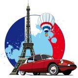 Estilo francês ilustração stock