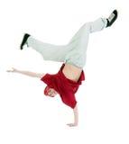 Estilo fresco dancer.breakdance del salto de la cadera foto de archivo libre de regalías