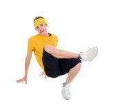 Estilo fresco dancer.breakdance del salto de la cadera imagen de archivo
