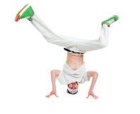 Estilo fresco dancer.breakdance del salto de la cadera imagenes de archivo