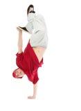 Estilo fresco dancer.breakdance del salto de la cadera fotos de archivo libres de regalías