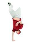 Estilo fresco dancer.breakdance del salto de la cadera imágenes de archivo libres de regalías