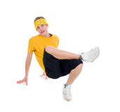 Estilo fresco dancer.breakdance do lúpulo do quadril imagem de stock