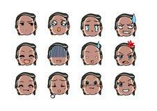Estilo fresco del emoticon Foto de archivo