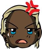 Estilo fresco del emoticon Imagen de archivo libre de regalías