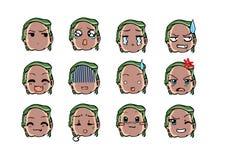 Estilo fresco do emoticon Fotografia de Stock Royalty Free