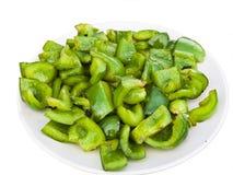 Estilo fritado de Suzhou da pimenta verde Fotografia de Stock Royalty Free