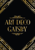 Estilo gatsby do art deco Fotos de Stock Royalty Free