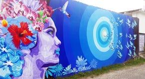 Estilo hermoso de la pintada del arte de la calle imagen de archivo libre de regalías