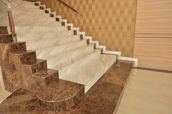 Estilo hermoso de las escaleras de mármol Fotografía de archivo libre de regalías