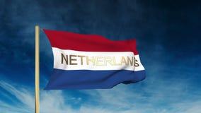 Estilo holandês do slider da bandeira com título acenar ilustração stock